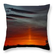 Sun Pillar In The Morning Throw Pillow