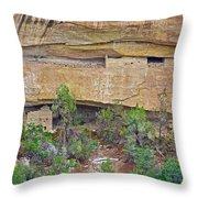 Sun Point Pueblo View-12-1300 Ad  On Chapin Mesa Top Loop Road In Mesa Verde National Park-colorado  Throw Pillow