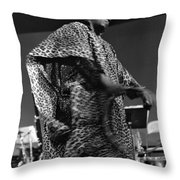 Sun Ra 1968 Throw Pillow by Lee  Santa