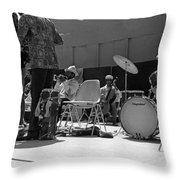 Sun Ra Arkestra Uc Davis Quad 2 Throw Pillow by Lee  Santa