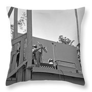 Sun Ra Arkestra Uc Davis Quad 3 Throw Pillow by Lee  Santa