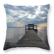 Sun Rays On The Lake Throw Pillow