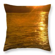 Sun Rays On The Payette River Throw Pillow