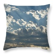 Sun Rays Through The Clouds   # Throw Pillow