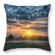 Sun Rays Vs Rain Clouds Throw Pillow