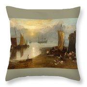 Sun Rising Through Vagour Throw Pillow