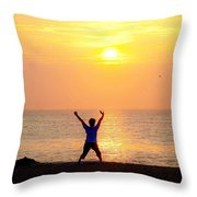 Sun Salutations Throw Pillow