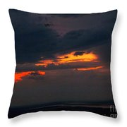Sun Set On Cadillac Mountain Throw Pillow