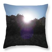 Sun Sets At Tent Rocks Throw Pillow