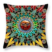 Sun Shaman Throw Pillow by Christopher Beikmann