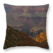 Sun Shining On The Canyons Throw Pillow