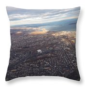 Sun Stained City Throw Pillow