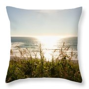 Sun Star At The Beach Throw Pillow