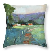 Sun Struck Farm Throw Pillow