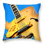 Sun Studio Guitar Throw Pillow