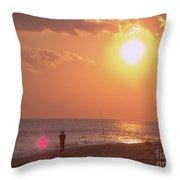 Sun Surf And Sea Throw Pillow
