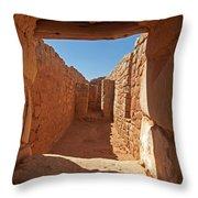 Sun Temple Mesa Verde National Park Throw Pillow