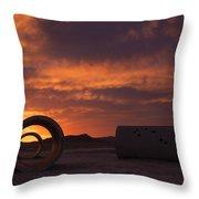 Sun Tunnel Sunset Throw Pillow