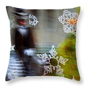 Sunbaked Snowflake Throw Pillow