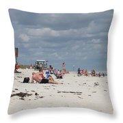 Sunbathers Throw Pillow