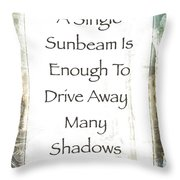 Sunbeam In The Piazza Throw Pillow