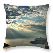 Sunbeams On Dubrovnik Throw Pillow