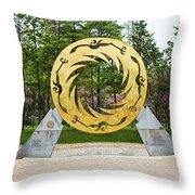 Sunbird Sculpture, Chengdu, China Throw Pillow