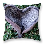 Sunburned Heart Throw Pillow