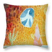 Sunburst, 1989 Wc On Paper Throw Pillow