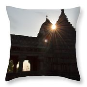 Sunburst At The Temple Of The 64 Yoginis Throw Pillow