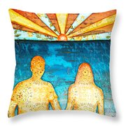 Sunburst In Love Throw Pillow