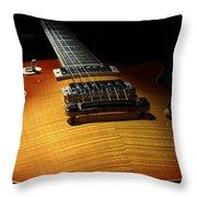 Sunburst Les Paul Throw Pillow