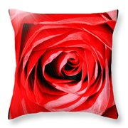 Sunburst On Red Rose With Framing Throw Pillow