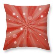 Sunburst Snow Red Throw Pillow