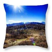 Sundance Aspen Loop-moutain Ranges V2 Throw Pillow