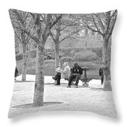 Sunday Afternoon In A Paris Park Throw Pillow