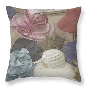 Sunday Hats For Sale Throw Pillow