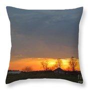 Sunday Late Fall Sunset Throw Pillow