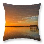 Sunday Morning Glow Throw Pillow