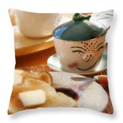 Sunday Morning Jelly Jar Throw Pillow