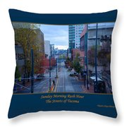 Sunday Morning Rush Hour Throw Pillow