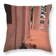 Sunday Mourning At Denver Civic Centre Throw Pillow