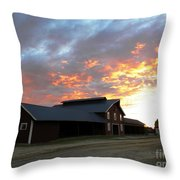 Fire In The Sky Sunday Throw Pillow