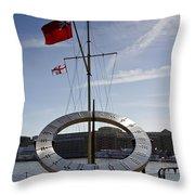 Sundial St Katherines Dock Throw Pillow