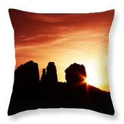 Sundown At Cathedral Throw Pillow by Tom Kelly
