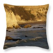 Sundown At Dinosaur Caves Throw Pillow