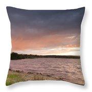 Sundown At Kielder Reservoir Throw Pillow