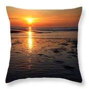 Sundown At The North Sea Throw Pillow