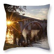 Sundown Bridge Throw Pillow