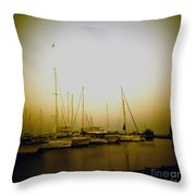 Sundown By The Lake Throw Pillow
